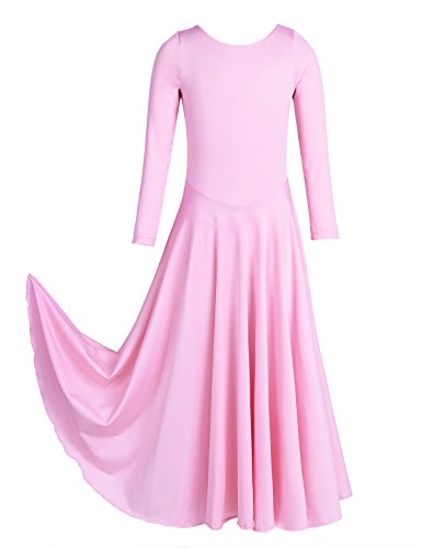 YiZYiF-Girls-Kids-Classics-Flowy-Liturgical-Praise-Full-Length-Long-Sleeve-Lyrical-Dance-Dress-3-Pink-10