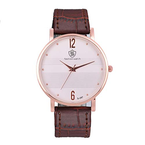 2019 New Women's Elegant Watch, Unique Simulation Fashion Clearance Women's Watch Ladies Watch Sale Ladies Casual Watch Comfortable PU Watch