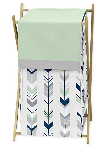 Sweet JoJo Designs Baby/Kids Clothes Laundry Hamper for Grey, Navy and Mint Woodland Arrow Girl or Boy Bedding Sets by Sweet Jojo Designs