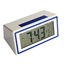 Mikey Store LED Electronic Desktop Digital Alarm Clock Large Display (Blue)