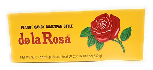De La Rosa Marzipan Peanut Candy, 1 OZ each - 30 Packs ()
