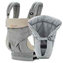 Ergobaby Bundle - 2 Items: Grey Four Position 360 Baby Carrier, Grey Performance Cool Mesh Insert