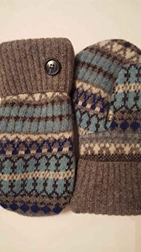 2Wooly Mittens Handmade Classic Wool Mittens made from Recycled Sweaters. Made in the USA