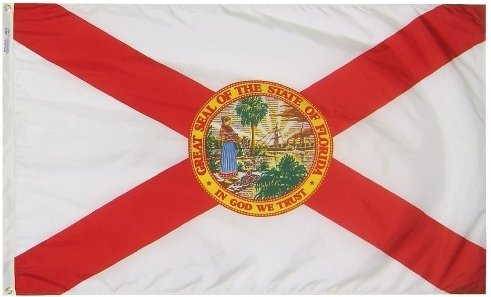 All Star Flags 3x5' Florida Heavy Weight Nylon Flag From