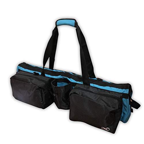 YogaAddict Yoga Mat Tote Bag Supreme with Pocket & Zipper, 30