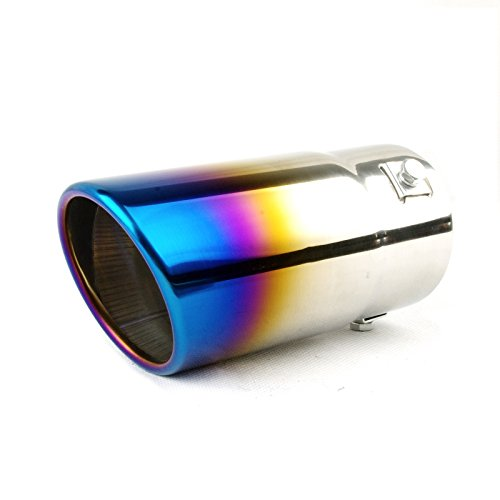 Tritrust Car Muffler Tip - Stainless Steel to give Chrome Effect - To Fit 1.5 to 2.5 inch Exhaust Pipe Diameter - Installation Clamps Included