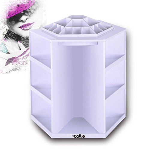 HiCollie Makeup/Cosmetic Organizer 360 Rotating /Revolving Cosmetic Storage Tabletop Big