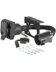 CURT Manufacturing 55774 Dual-Output Vehicle-Side Trailer Wiring Harness Connectors for Select USCAR Vehicles, 7-Pin Trailer Wiring, 4-Pin Trailer Wiring
