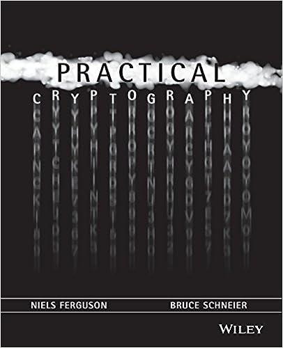 Practical Cryptography Niels Ferguson Bruce Schneier