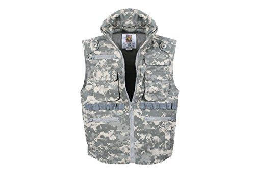 Rothco Kids Ranger Vest, Acu Digital Camo, Medium