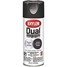 Krylon K08849001 'Dual' Superbond Paint and Primer Metallic Finish, Oil Rubbed Bronze, 12 Ounce