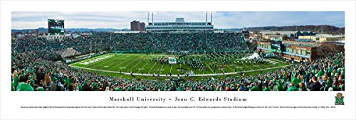 (Marshall University Football - 50 Yard Blakeway Panoramas Unframed College Sports Posters)