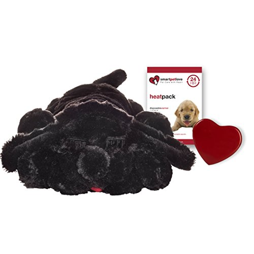 SmartPetLove Snuggle Puppy Behavioral Aid Toy, Black Lab (Black Plush Dog Toy)