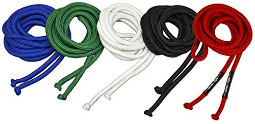 Ring to Cage Replacement Gi Pant Drawstring - Stretchy Rope, 5 Ropes Set, for Brazilian Jiu Jitsu ()
