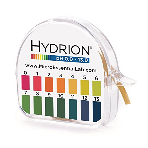 (Micro Essential Hydrion Insta-Chek HJ613 Wide Range Single Roll Jumbo pH Test Paper Dispenser with Colorimetric Chart, 600