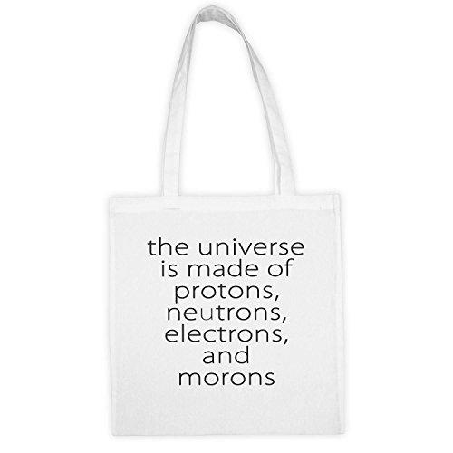 Economique Cadeau Universe Electrons Ecologiste Durable Canevas Of Lavable Made Et Neutrons Is Bien Coton The Sac Poignées Longues Moron En And Matière Réutilisable Protons qxpw1TUd