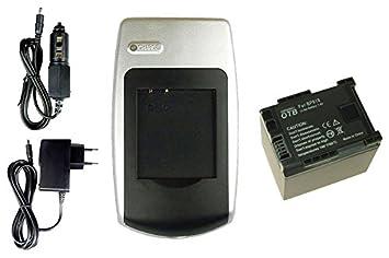 Batería + Cargador para Canon LEGRIA HF21, HF200, HG20, HG21