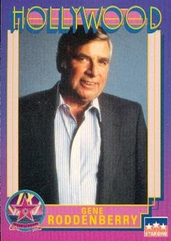 (Gene Roddenberry trading card (Star Trek Creator WWII Bomber Pilot) 1991 Hollywood Walk Fame #216)
