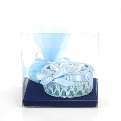 Bomboniere - azul y blanco Tarro para dulces y golosinas - con mangas para bebé o a