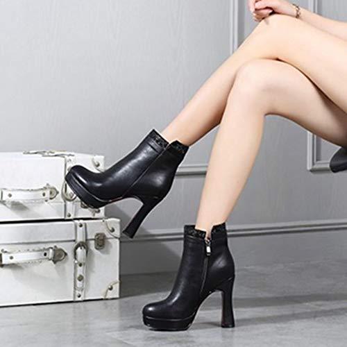 Sjjh Lita Boots Black Fashion Women RqrPR