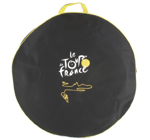 Tour De France Bicycle Wheel Bag (Black/Silver, 76 cm)