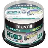 日立マクセル データ用DVD-R 4.7GB 1-16倍速 プリンタブルホワイト 50枚スピンドル DR47DWP50SP