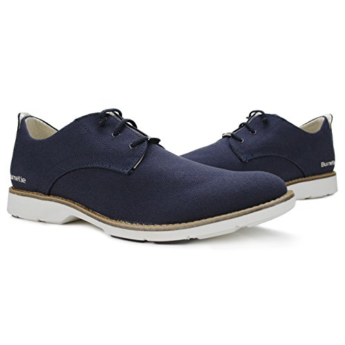 Burnetie Mens Blue Canvas Casual Low Oxford 10 M US 6ban4kvwQJ