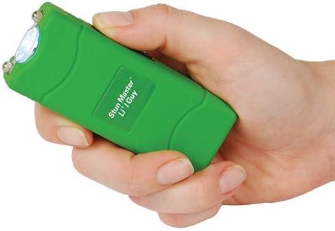 Powerful Li\'l Guy 12 Million Volt Green Mini Stun Gun Flashlight