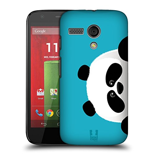 Head Case Designs Panda Peeking Animals Hard Back Case for Motorola Moto G (1st Gen) (Moto G Case Head)