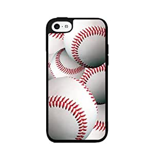 Baseballs in Detail - TPU Rubber Silicone Phone Case Back Cover (iPhone 5/5s)