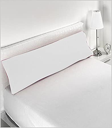 Miracle Home Funda Almohada, Suave y Cómoda, Algodón 50% Poliéster, Blanco, 135 cm