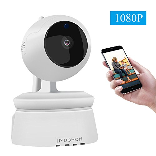 HYUCHON Wireless Camera 1080P WiFi IP Surveillance Home Security Cam Baby Elder Pet Monitor Two-Way Audio Motion Detection Remote Control Auto Night Vision Pan/Tilt/Zoom
