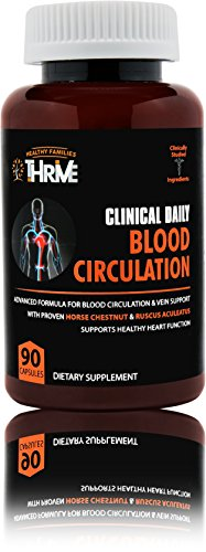 CLINICAL DAILY Blood Circulation Supplement. Herbal, All Natural. Niacin, Horse Chestnut, Cayenne, Butchers Broom in Proprietary Formula. Poor Circulation and Vein Support for healthy legs.90 (Proprietary Herbal Formula)