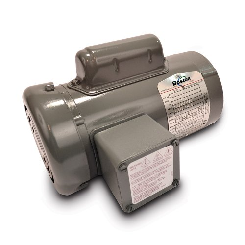 Totally Enclosed Non Ventilated Motor (Boston Gear EUT AC Motor, TENV (Totally Enclosed Non-Ventilated), C-Face, 1/3 HP, B5 Bore, 230/460 Volt, 3 Phase, 60 Hertz, 1725 RPM)