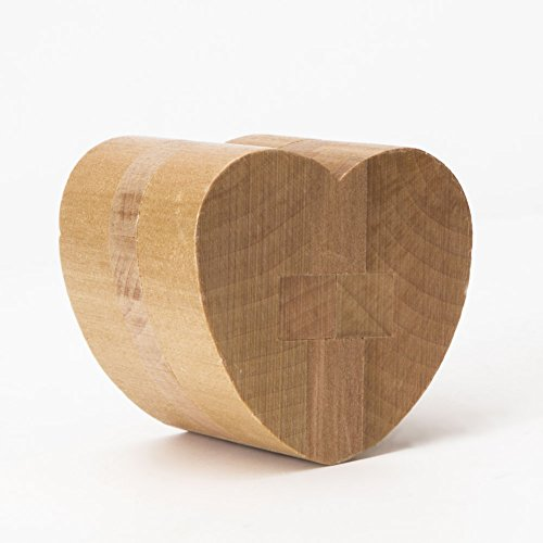 "Puzzles Games Wooden Puzzles KongMing Lock ""Heart shape lock"" I Love You Cube ,and Gift for Kids/Adults For Birthdays, Valentine's day, Easter, Christmas,DIY Present Packing"
