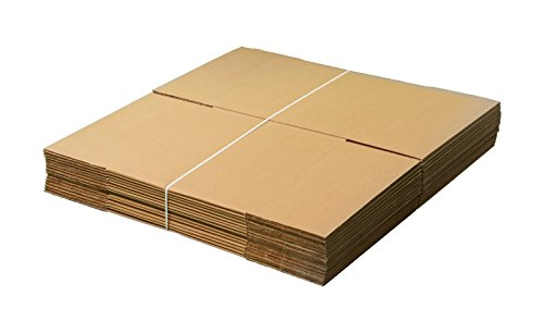 "Pack Of 15 AMERIQUE Corrugated Cardboard Standard Boxes, 18"" Length X18"" Width X18"" Height Each, Tough And Durable, Meets all shipping and moving requirements (Pack Of 15) from AMERIQUE"