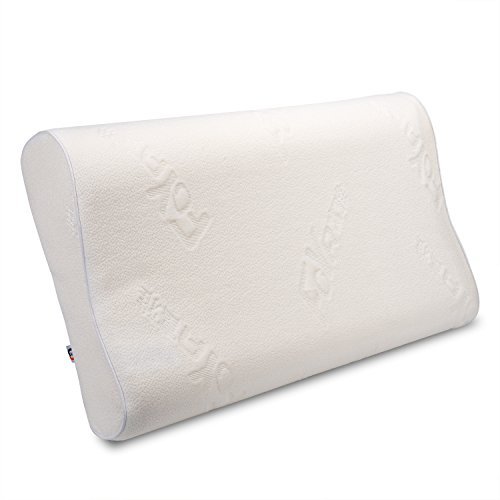 Price comparison product image Mastery Mart Contour Sleep Memory Foam Bed Pillow with Removable Case - Firm and Comfortable Optimum Support for Neck and Headaches, Pain and Snore Relief 33x55 cm