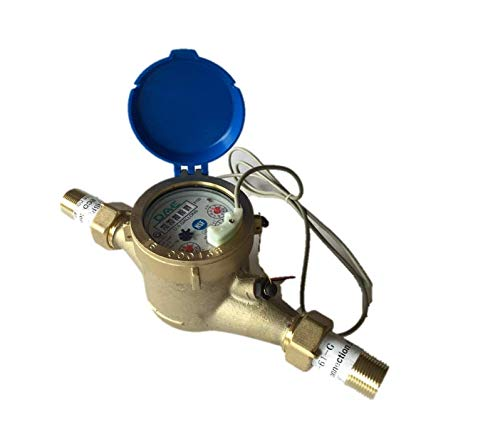 "DAE MJ-75 Lead Free Potable Water Meter, 3/4"" NPT Couplings, Pulse Output, Gallon from DAE"