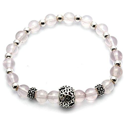 Epinki 925 Sterling Silver Women Bracelet Retro Smooth Beads Link Strech Black - Ray Hr Silver