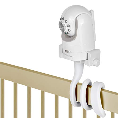 Baby Monitor Mount Camera Shelf Compatible with Infant Optics DXR 8 and Most Other Baby Monitors,Universal Baby Camera Holder,Attaches to Crib Cot Shelves or Furniture (White)
