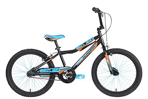 Schwinn Boys' Throttle Kids Bike, Black, Blue & Orange, 20'