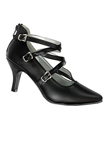 - AngelSteps Women's Adult Saffron Dress Shoes 8 Medium US Women/Black