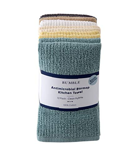 Bamboo Kitchen Towel - Bumble 12-Pack Antimicrobial Barmop Kitchen Towels / 16