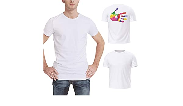 ZODOF Camisetas de Manga Corta de Corte Estándar Hombre Top ...