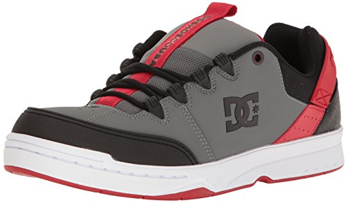 DC Herren Syntax Skate Schuhe, EUR: 44.5, Grey/Black/Red