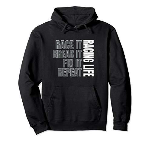 (Dirt Track Racing Sweatshirt Race Hoodie Race Break Repeat)