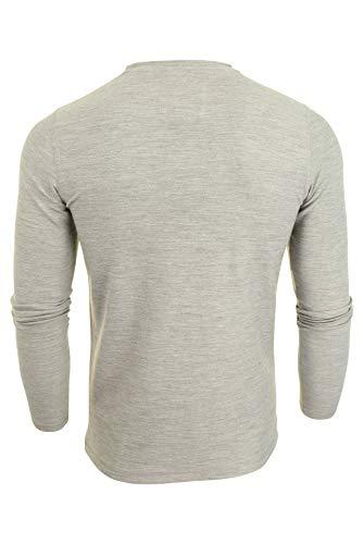 Homme Clair Laundry Tokyo T 'stanford' Manches Grand père Col Longues shirt Gris CnT4wqz