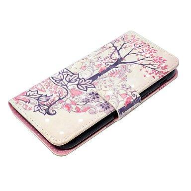 Casos hermosos, cubiertas, Caso para la galaxia a5 2017 a3 2017 de Samsung caja de teléfono de la sección de la carpeta de la PU del diseño del conejo de la flor del ( Modelos Compatibles : Galaxy A5( Galaxy A5(2017)