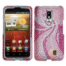 MYBAT Diamante Protector Faceplate Cover Compatible With LG VS920 / Spectrum , Phoenix Tail