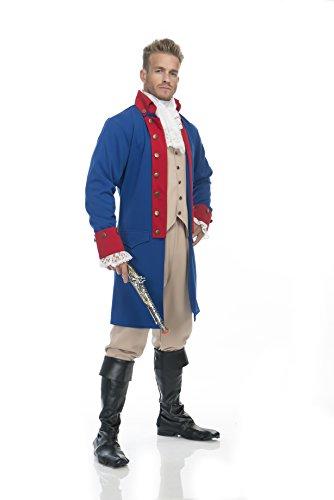Charades Men's Alexander Hamilton Costume, Blue/Red, Medium -